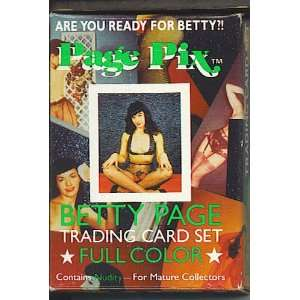 Page Pix Betty Page Trading Card Set box set of 36 Larry