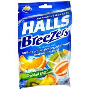 HALLS FRUIT BREEZER TROP CHILL Pack of 25 by DOT