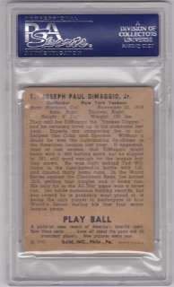 1940 Play Ball Joe DiMaggio #1 PSA 1.5   NY Yankees