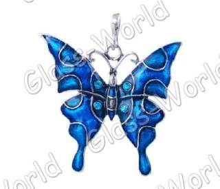 6pc Butterfly Enamel&White Gold Plated 51*53MM Pendants