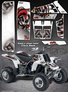 YAMAHA BANSHEE GRAPHICS THE EVIL JESTER WHITE / RED