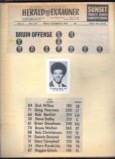 70s UCLA Los Angeles LA COLLEGE FOOTBALL REGGIE ECHOLS photo ALBUM