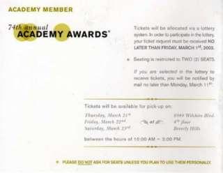 Farrah Fawcett Personal Signed Academy Award Invitation