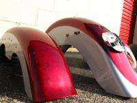 HARLEY DAVIDSON FLSTF SOFTAIL FATBOY GAS TANK AND FENDER SET RED WITH