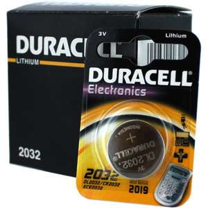 Duracell DL2032 3V Lithium Coin Cell Battery 10Pk CR2032 ECR2032
