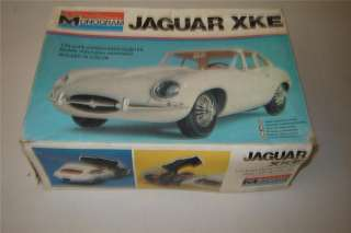 25 Monogram Jaguar XKE Older Plastic Model Kit