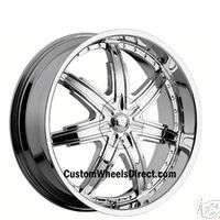 Devino Wheels 700 6x135 20x9 Chr +30 Offset no cap FORD TRUCKS