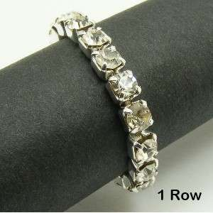 Row STRETCH Wedding Bridal AUSTRIA CRYSTAL Rhinestone RING