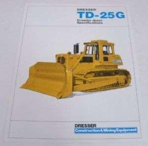 Dresser 1985 TD 25G Crawler Dozer Sales Brochure