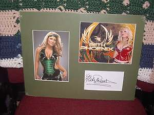 Beth Phoenix Diva TNA / WWE Autograph Display