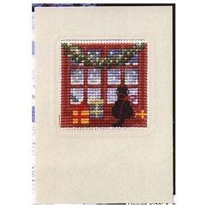 Card   Cat At Window   Cross Stitch Kit: Arts, Crafts & Sewing