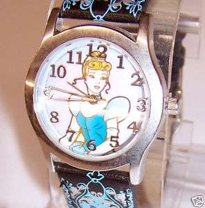 Disney Princess CINDERELLA WATCH Wristwatch Clock NEW