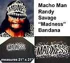 Oh Yeah MACHO MAN Randy Savage MADNESS Black Bandana items in Extreme