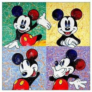 Disney Mickey Mouse Four Square Canvas Giclee Print Toys