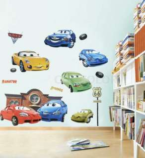 Disney new pixar cars wall stickers kids bedroom decals for Disney pixar cars wall mural