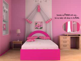 Someday My Prince Will Come Vinyl Wall Word Art Lettering Stickers