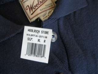 Woolrich Mens Navy Blue Long Sleeved Knit Shirt NEW NWT Size XL (E1