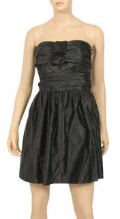 348 JUICY COUTURE BLACK STRAPLESS SATIN PARTY DRESS 12