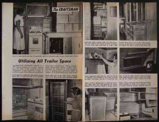 Travel Trailer Utilizing Space 1958 Design HowTo Tips