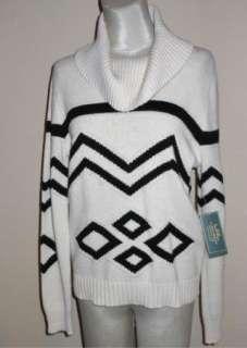 NWT Ralph Lauren Southwest Indian Design Cowl Neck Sweater L