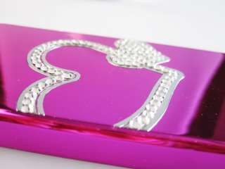 iPhone 4 4s Bling Crystal Diamond Rhinestone Love Heart Mirror card
