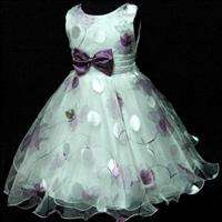 3D 330 We AS #PU3211 Purple Christmas Wedding Party Flowers Girls