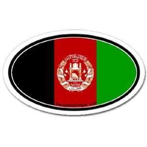 Afghanistan Afghan Flag Car Bumper Sticker Decal Oval