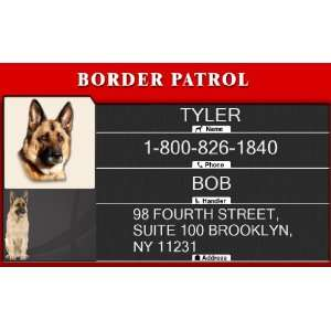 BORDER PATROL Badge   1 Dogs Custom ID Badge   Design#2