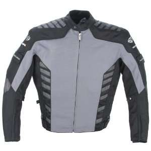 Joe Rocket Airborne Mens Textile Motorcycle Jacket Gunmetal/Black
