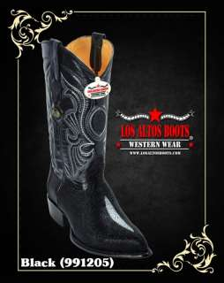 TOE D WIDTH STINGRAY COWBOY BOOTS BY LOS ALTOS
