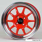 ROTA GT3 15X7 4X100 ET40 67.1 HUB RED RIMS WHEELS