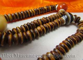 Wonderful Amazing Old Antique Tibetan Buddhist Bone Gem Prayer Beads