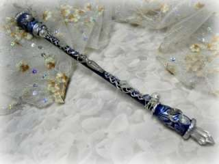 Moon Goddess Moonstone Triple Moon Magic wand, wiccan altar tools