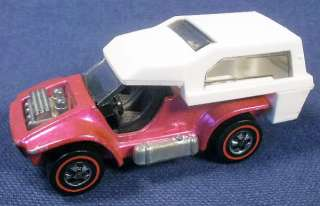 Hot Wheels POWER PAD with PIN, Magenta, Redline 1969, Very Nice