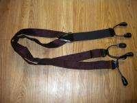 TRAFALGAR Red Black Suspender Belt Braces