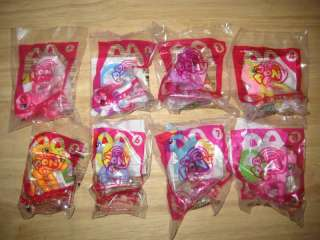 2012 MCDONALDS MY LITTLE PONY HAPPY MEAL PREMIUMS/COMPLETE SET OF 8