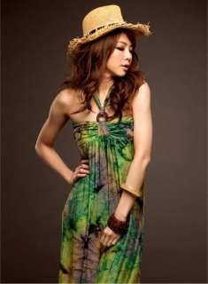 fashionable slim elastic charming Trendy green Long dress D3 9458
