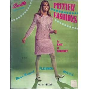 Bucilla Presents Preview Fashions to Knit or Crochet