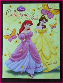 DISNEY PRINCESS   Gorgeous COLOURING IN BOOK   Colour in Color