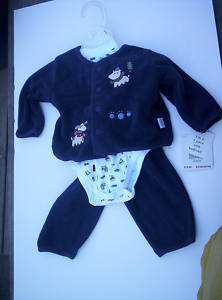 Christmas boys girls 3 pc outfit infant 6   9 mo NWT