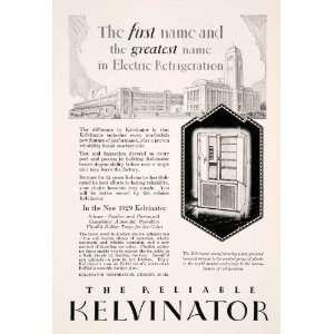 Antique Kelvinator Electric Refrigerator Household Kitchen Appliance