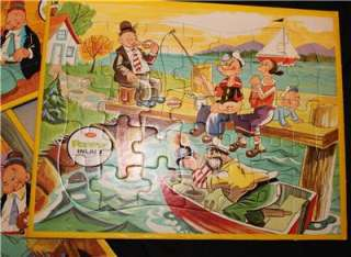 POPEYE WHIMPY OLIVE OYL JAYMAR VINTAGE PUZZLES TOY KING FEATURES