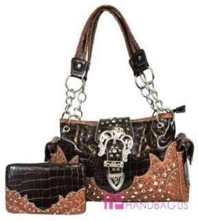 Western Cowgirl Rhinestone Belt Chain Strap Purse Bag Handbag Wallet
