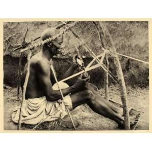 Hand Loom Dikwa Nigeria Africa   Original Photogravure: Home & Kitchen