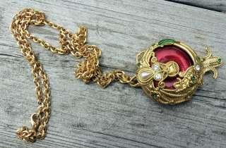 Edgar Berebi Jewelry Gold Tone Locket Necklace & Chain