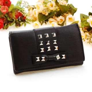 new fashion PU women lady medium Wallet button Purse