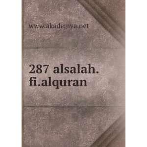 287 alsalah.fi.alquran www.akademya.net  Books
