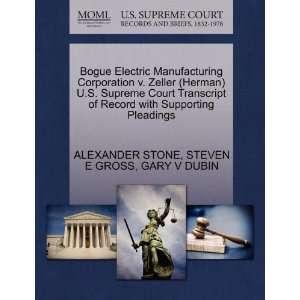 9781270531814): ALEXANDER STONE, STEVEN E GROSS, GARY V DUBIN: Books
