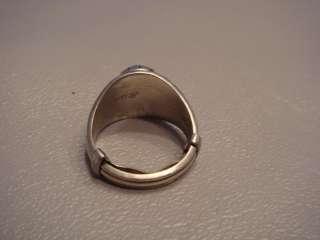 1982 10k White Gold Ladies High School Ring Waukegan