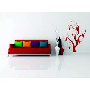 Removable Wall Decals  Modern tree and bird design